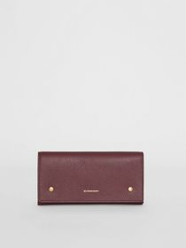 Burberry Two-tone Leather Continental Wallet in De