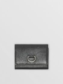 Burberry Small D-ring Leather Wallet in Black
