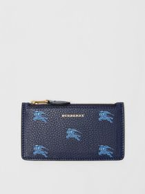 Burberry Equestrian Knight Leather Zip Card Case i