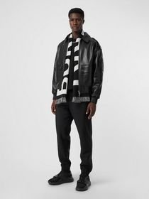 Burberry Wool Mohair Tapered Trousers in Black