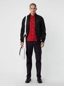 Burberry Technical Cotton Twill Cargo Trousers in