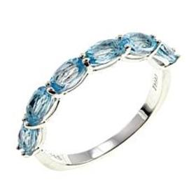 Sevilla Silver™ Blue Topaz 6-Stone Stackable Band