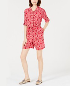 Tommy Hilfiger Printed Romper, Created for Macy's