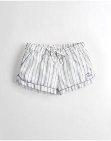 Hollister Satin Sleep Shorts, BLUE STRIPE