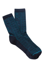 SmartWool Lily Pond Pointelle Wool Blend Crew Sock