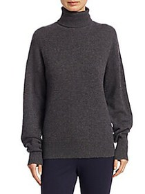 Theory Drop Shoulder Cashmere Turtleneck Sweater H