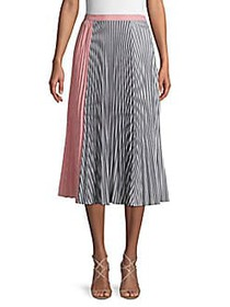 French Connection Accordion Pleat A-Line Skirt PIN