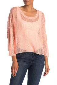 In Cashmere Mesh Pullover