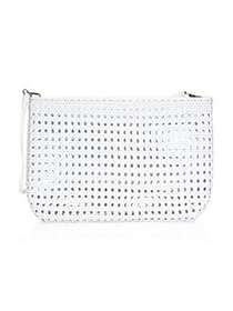 Elizabeth and James Woven Pouch WHITE