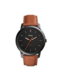 Men's Minimalist Three-Hand Leather Watch (Style: