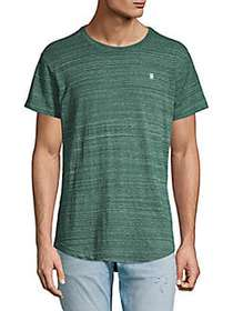 G-Star RAW Embroidered High-Low Tee LODEN