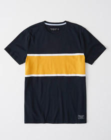 Short-Sleeve Colorblock Tee, NAVY BLUE