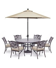 "Chateau Outdoor Aluminum 7-Pc. Set (60"" Round Dini"