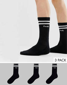 French Connection 3 pack sports socks