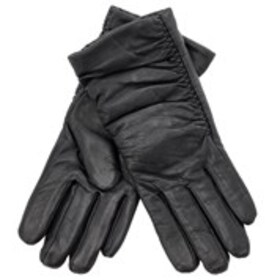 ADRIENNE VITTADINI Womens Leather Ruched Gloves