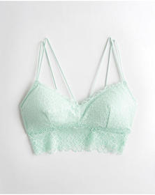 Hollister Lace Longline Bralette With Removable Pa