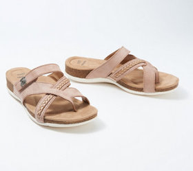 """""""As Is"""" Earth Origins Leather Thong Sandals- Bosk"""