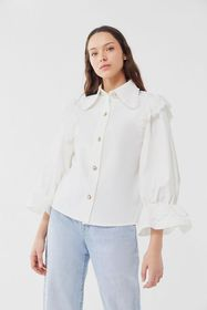Sister Jane Oh Captain Ruffle Button-Front Blouse