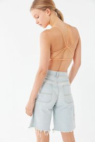 UO Beach Babe Strappy Cropped Top