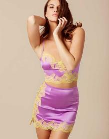 Lucie Mini Slip Purple And Yellow
