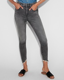 Express super high waisted denim perfect ankle leg