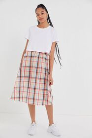 UO Jessie Plaid Midi Skirt