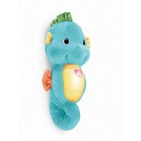 Fisher-Price Soothe & Glow Seahorse, Blue, with Li