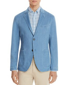 Michael Kors - Washed Chambray Classic Fit Blazer
