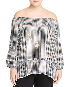 Single Thread Plus - Floral Gingham Off-the-Should
