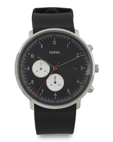FOSSIL Men's Chase Timer Silicone Strap Multifunct