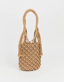 My Accessories London Exclusive woven straw should