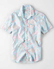 American Eagle AE Short Sleeve Button Up Shirt