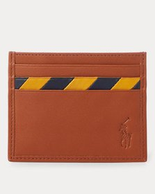 Ralph Lauren Striped Leather Card Case