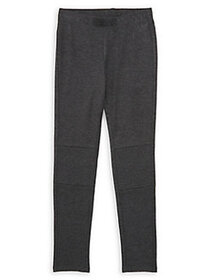 Just Kidding Girl's Moto Joggers CHARCOAL