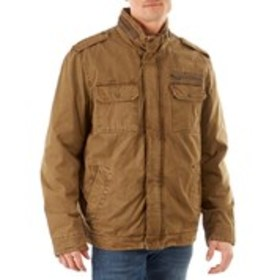 Mens Sherpa-Lined Military Jacket