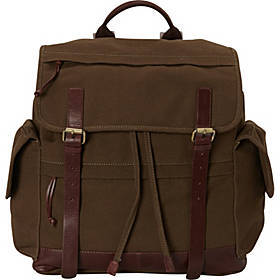 "Mancini Leather Goods Large Backpack for 15.6"" Lap"