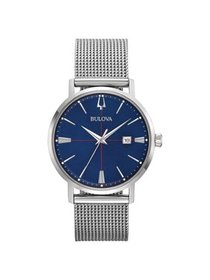 96B289 Aerojet Classics Men's Watch Silver Mesh 39