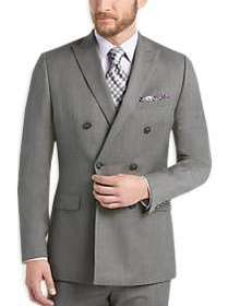 Calvin Klein Gray Double Breasted Slim Fit Suit