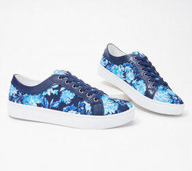 Isaac Mizrahi Live! Floral Printed Sneakers with S