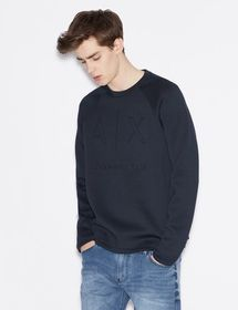 Armani SWEATSHIRT WITH SMOOTH EDGES AND TONE ON TO