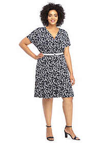 The Limited Plus Size Dress with Belt