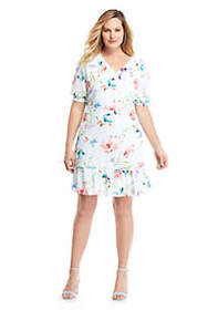 The Limited Plus Size Printed Knee Length Dress
