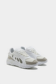 Nasty Gal Womens White Lace Up Chunky Sneakers