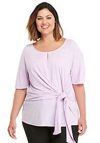 The Limited Plus Size ITY Side Tie Top