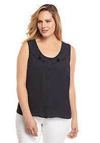 The Limited Plus Size Sleeveless Ruffle Top