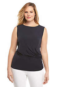 The Limited Plus Size Side Ruched Shell Top