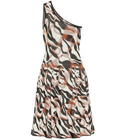 Roberto Cavalli One-shoulder jacquard minidress