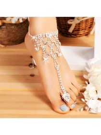 Hot Fashion Women Crystal Barefoot Sandals Beach W