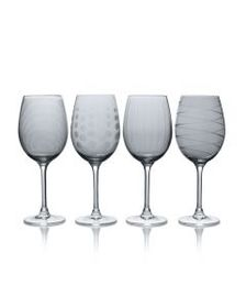 Mikasa Smoke Set of 4 White Wine Glasses