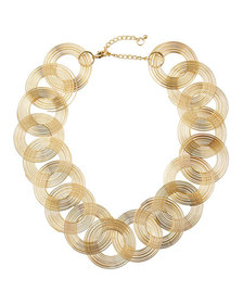 Kenneth Jay Lane Swirls-Link Necklace